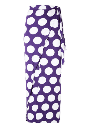 Brigitte polka dots midi skirt - PURPLE