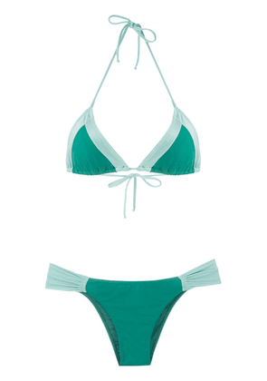 Brigitte Tatiana Melissa color block bikini set - Green