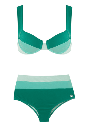 Brigitte high waisted bikini set - Green
