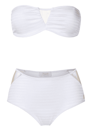 Brigitte Jade high waisted bikini set - White
