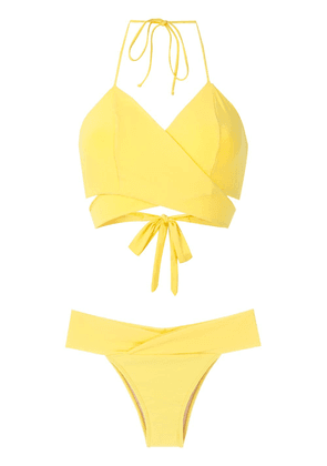 Brigitte Mary wrap bikini set - Yellow