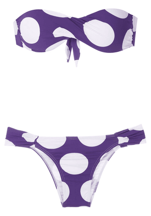 Brigitte Manu Mel printed bikini set - PURPLE