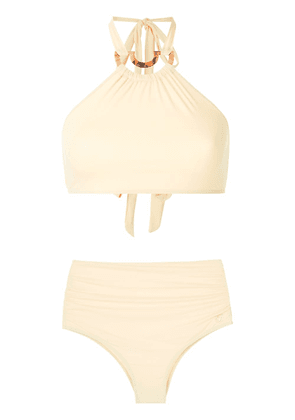 Brigitte high waisted bikini set - Yellow