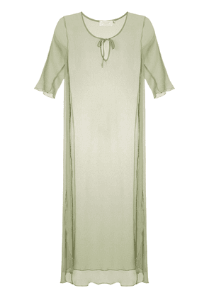 Brigitte silk beach dress - Green