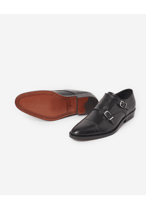 The Kooples - Black leather derbies with double fastening - MEN