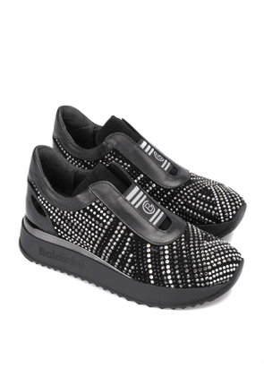 Studded pull on sneakers