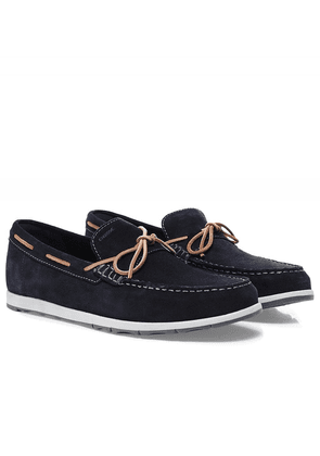 Geox Suede Calarossa Loafers Colour: Navy