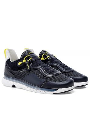 Geox Leather Mix Levita Trainers Colour: Navy