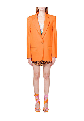Attico Orange Wool Blazer