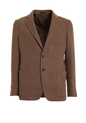 Unlined Jacket Brown