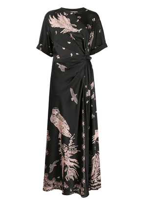 Cédric Charlier eagle print dress - Black