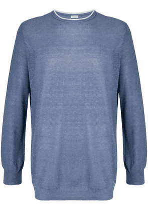 Caruso relaxed long-sleeve jumper - Blue