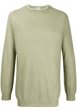 Caruso long-sleeve fitted jumper - Green