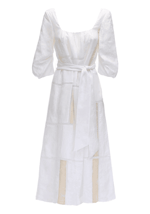Lvr Sustainable Embroidered Linen Dress