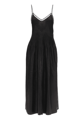 Lvr Sustainable Leather & Lace Dress