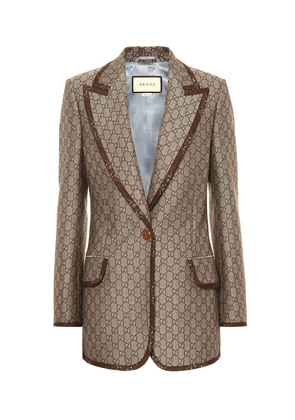 GG cotton and wool blazer