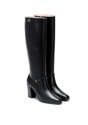 Double G leather knee-high boots