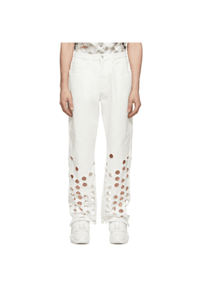 Maison Margiela White Bull 5-Pocket Jeans