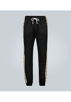 Technical jersey trackpants