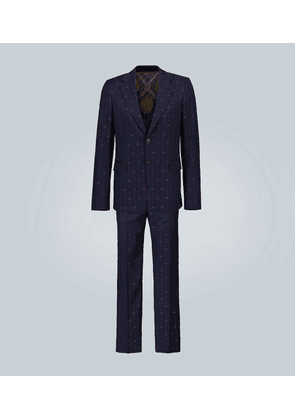 Embroidered GG suit