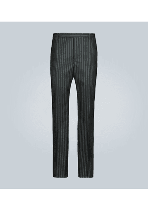 Tailored lamé-striped wool pants
