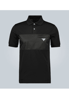 Cotton stretch short-sleeved polo shirt