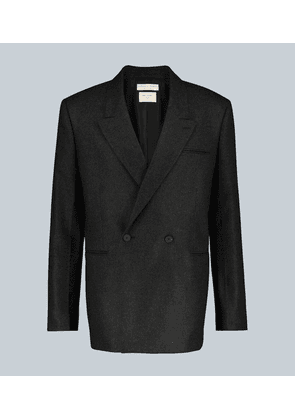 Double-breasted cashmere blazer