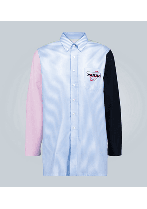 Colorblocked striped shirt