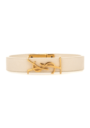 Monogram leather bracelet