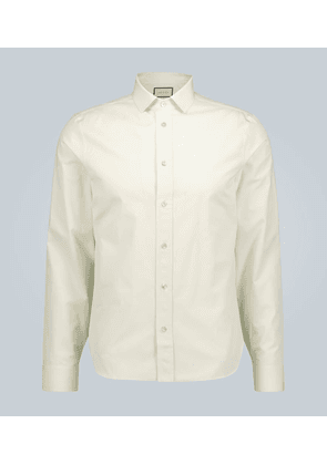 Piece Dyed cotton long-sleeved shirt