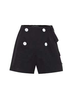 High-rise cotton shorts