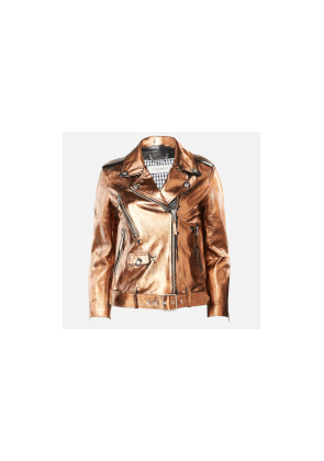 Golden Goose Deluxe Brand Women's Chiodo Dakota Biker Jacket - Distressed Bronze - IT 38/UK 6