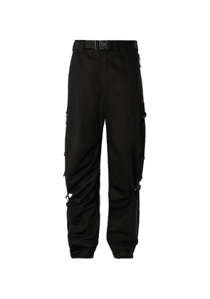 99%IS- - Black Cotton-twill Wide-leg Trousers - Black