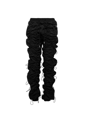 99%IS- - Gobchang Slim-fit Tapered Toggled Shell Drawstring Trousers - Black