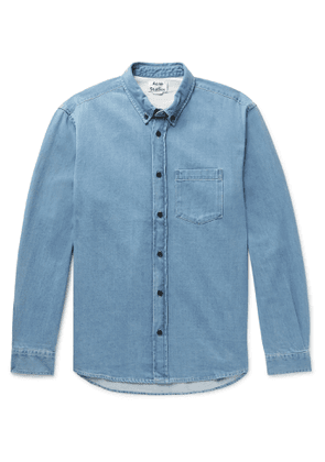 Acne Studios - Slim-Fit Button-Down Collar Denim Shirt - Men - Blue