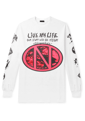 99%IS- - Live My Life Oversized Printed Cotton-jersey T-shirt - White