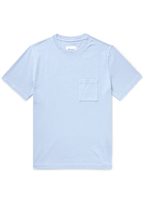 Albam - Workwear Pigment-dyed Cotton-jersey T-shirt - Blue