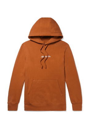 Aimé Leon Dore - Logo-Embroidered Loopback Cotton-Jersey Hoodie - Men - Brown