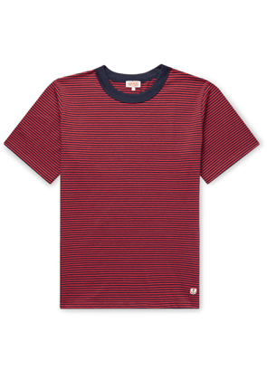 Armor Lux - Striped Cotton-jersey T-shirt - Red