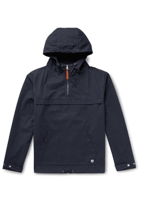 Armor Lux - Cotton Oxford Hooded Jacket - Blue