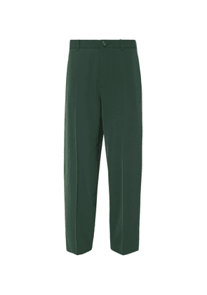 Balenciaga - Bottle-Green Wide-Leg Twill Trousers - Men - Green