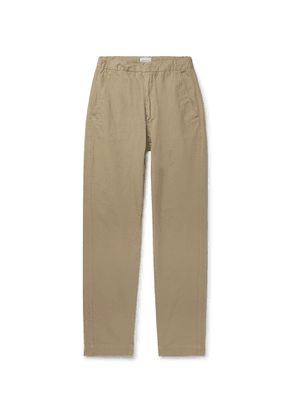 Bellerose - Tapered Cotton-ripstop Drawstring Trousers - Neutrals