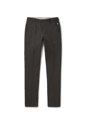 Bellerose - Slim-fit Tapered Cotton-twill Trousers - Gray