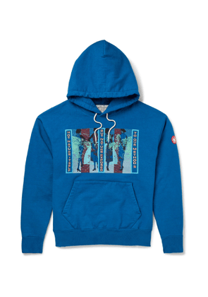 Cav Empt - Embroidered Printed Cotton-Jersey Hoodie - Men - Blue