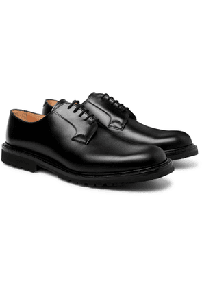 Cheaney - Covent Burnished-leather Derby Shoes - Black