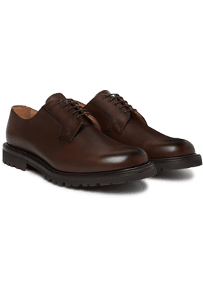 Cheaney - Covent Burnished-leather Derby Shoes - Brown