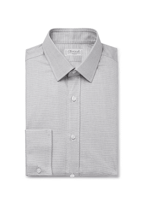 Charvet - Grey Puppytooth Cotton Shirt - Men - Gray