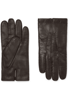 Dents - Shaftesbury Touchscreen Cashmere-Lined Leather Gloves - Men - Brown