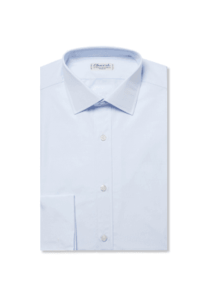 Charvet - Blue Slim-Fit Double Cuff Cotton-Poplin Shirt - Men - Blue
