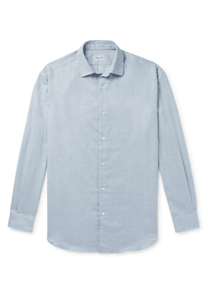 Charvet - Cotton and Wool-Blend Flannel Shirt - Men - Blue